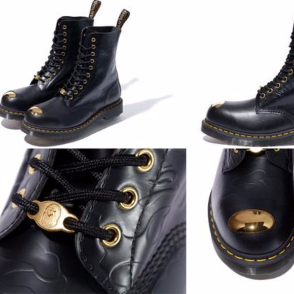 Babe x Dr. Martens gold toe boots